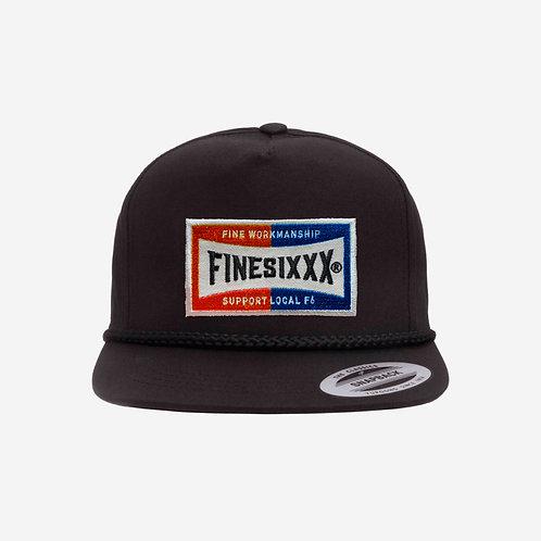 FS 5PANEL WAPPEN CAP - BLACK