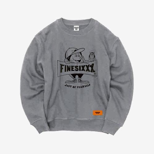 Finesickboy Crew Sweat - Gray×Black