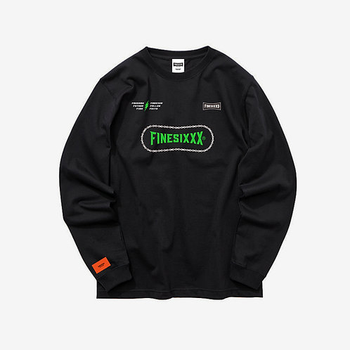 F6 CHAIN GRAPHIC LONG SLEEVES - BLACK