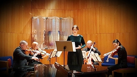 Holocaust Remembrance Day of the Greek Jewry, under the auspieces of the Greek Consulate General in NY With members of Chamber Music Hellas USA Hebrew Union College, January 2020
