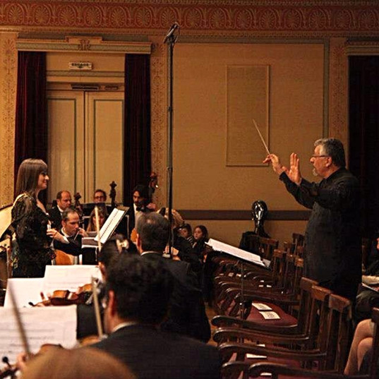 With City of Athens Symphony Orchestra and conductor Byron Fidetzis