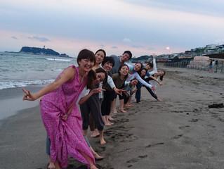 8月のビーチヨガ