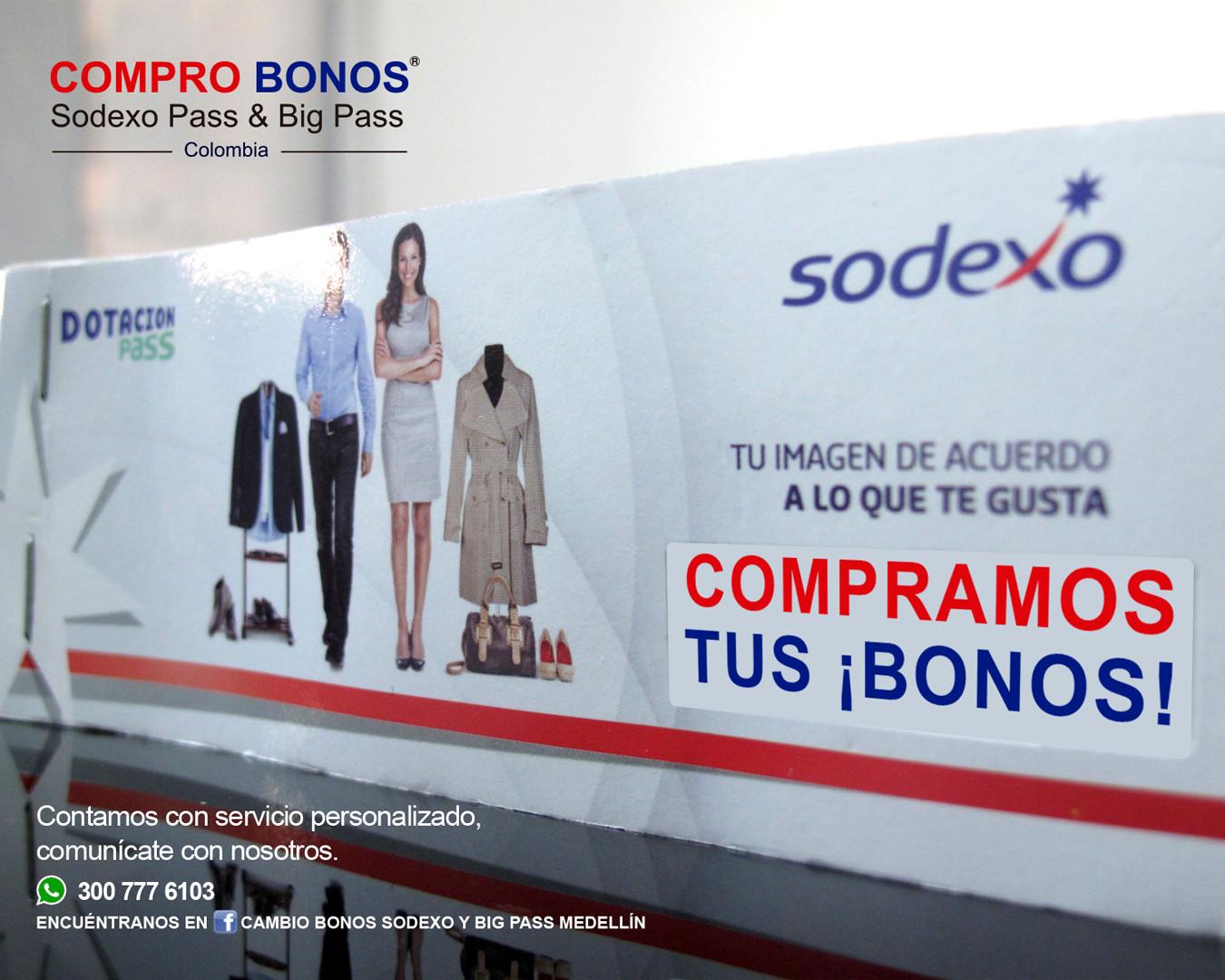 Compramos tus bonos Sodexo y Big Pass