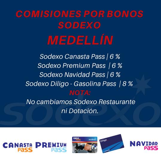 Comisiones Bonos Sodexo Medellín