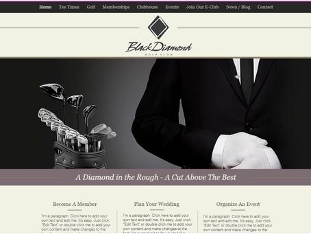 Black Diamond Golf Club Launches New Website