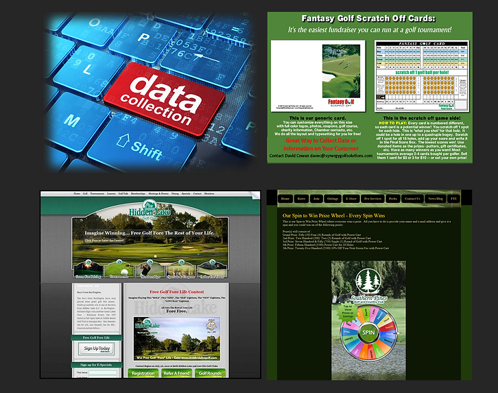 Golf Course Data Collection Marketing