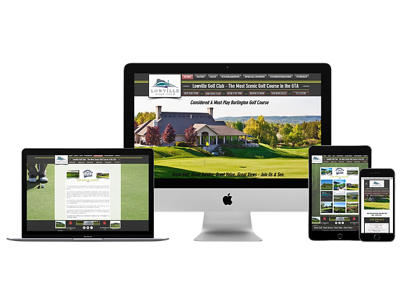 Golf Course Website Design - Lowville