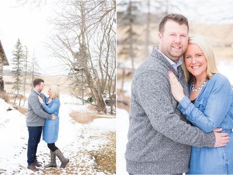 {Michelle & Landon} Engagement Session on the Farm