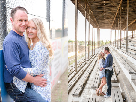 {Lori & Mike} Viking Speedway Alexandria Minnesota Engagement Session