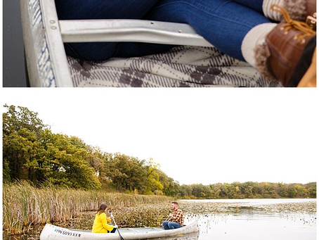 {Brett & Brittany}  Minnesota Fall Engagement Canoe Session