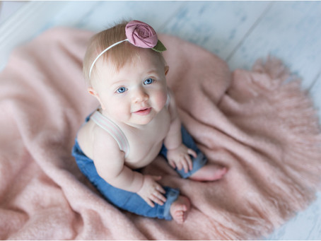 {Rayna} Six Months & {Kaylynn} Three Years Old