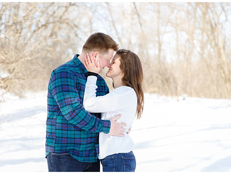 {Jessica & Josh} Winter Engagement Paynesville, Minnesota