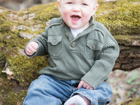 {Maddux} One Year Old outdoor session