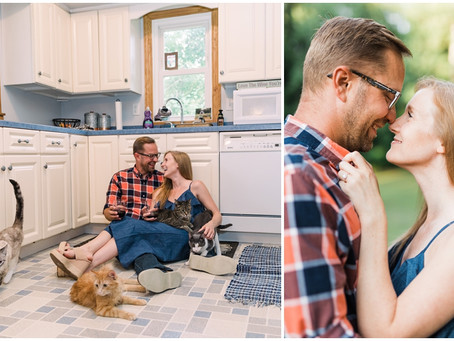 {Nikki & Brad} An Engagement Session from the Comfort of Home