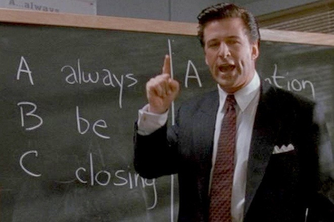 Alec Baldwin in Glengarry Glenross