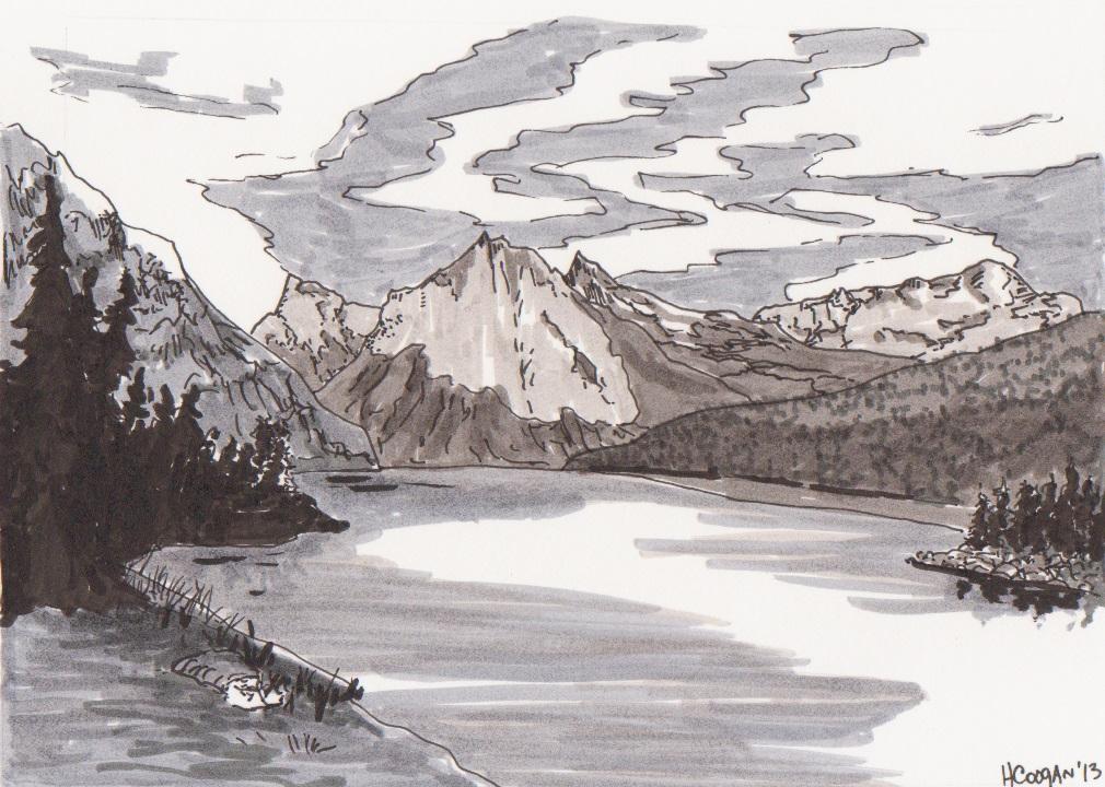 Mountain - Black and White  2013