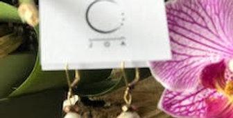 JOÂ - Boucles d'oreilles d'agate et de cristal faceté