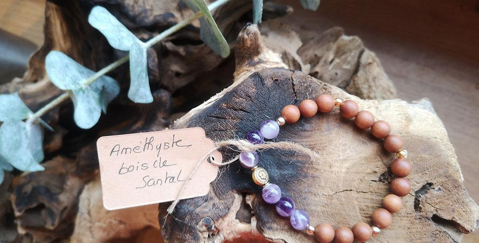 Mandalamaya - Améthyste, bois de santal