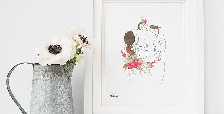 HOBEIKA ART - Affiche Famille (Klimt)