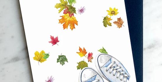HOBEIKA ART - Carte Piétiner l'automne