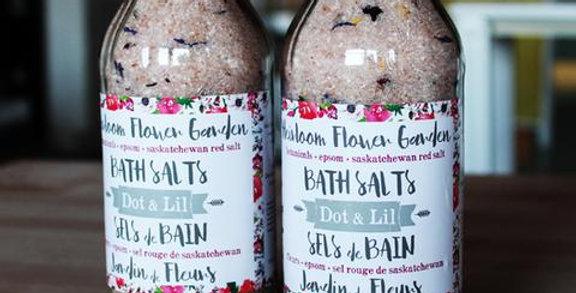 DOT & LIL - Sels de bain Jardin de Fleurs