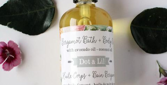 DOT & LIL - Huile pour le corps Bergamote