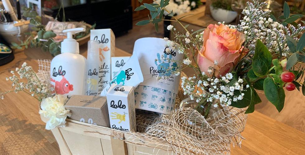 EXTRA - PANIER CADEAUX Fleur + vase