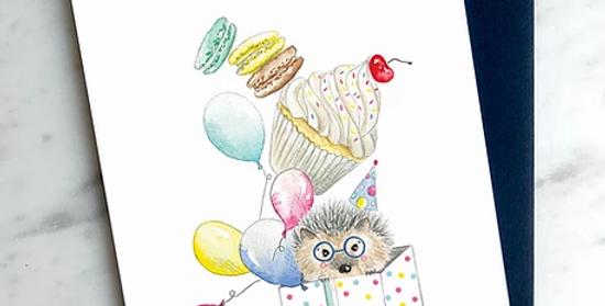 HOBEIKA ART - Carte Bonne fête hérisson