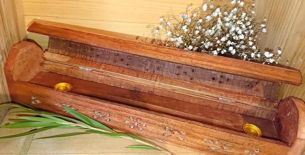 Kheops - Boîte et Porte encens en bois
