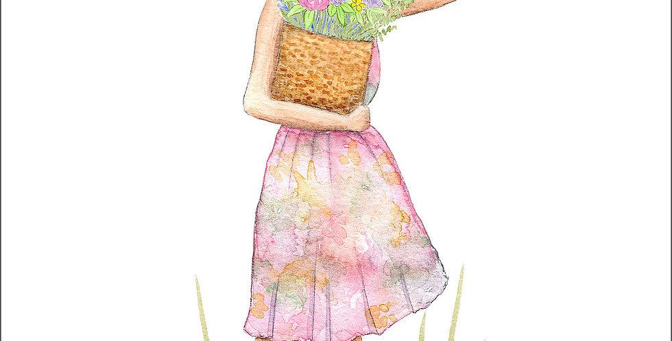 HOBEIKA ART - Affiche Fille d'été
