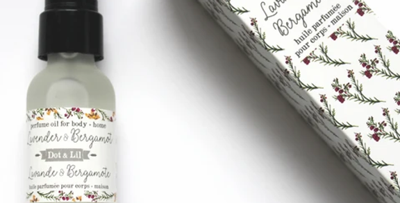 DOT & LIL - Huile parfumée Lavande/Bergamote