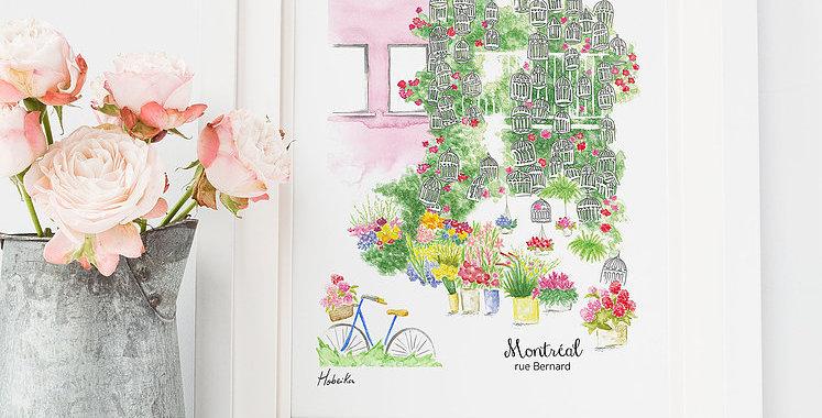 HOBEIKA ART - Affiche Rue Bernard