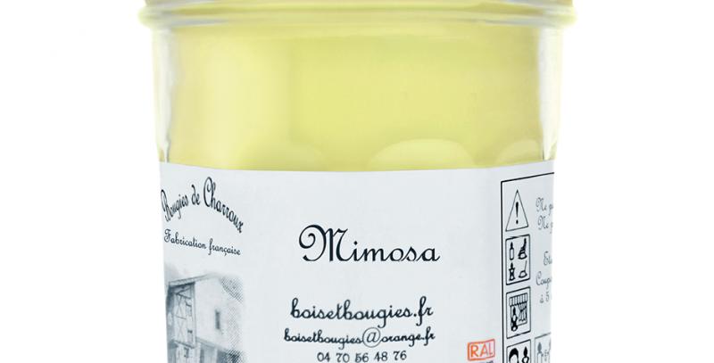 Les Bougies de Charroux - Bougie Mimosa