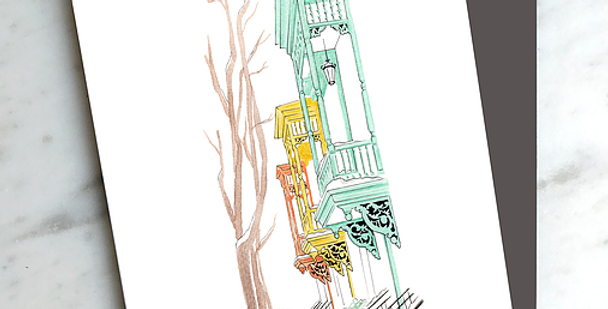 HOBEIKA ART - Carte Avenue Coloniale