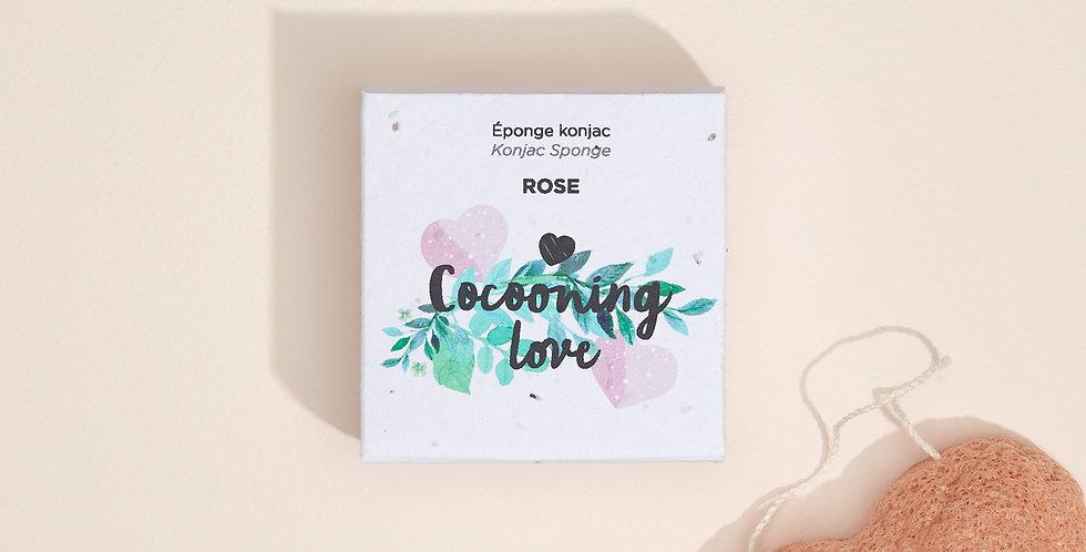 COCOONING LOVE - Éponge Konjac Rose