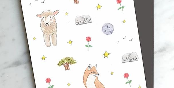 HOBEIKA ART - Carte Petit Prince