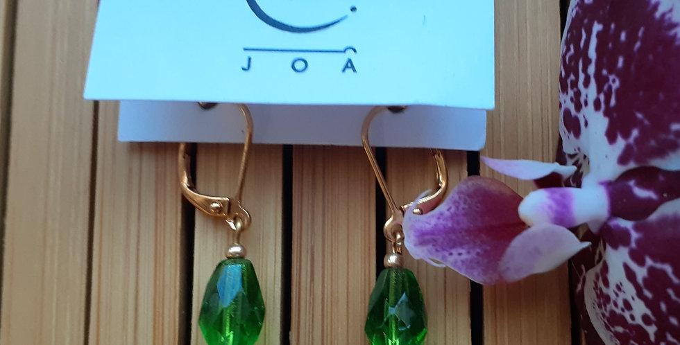 JOÂ - Boucles d'oreilles verre peint et cristal