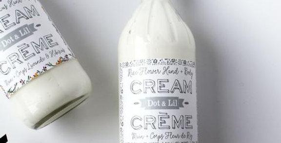 DOT & LIL - Crème mains + corps Fleur de riz