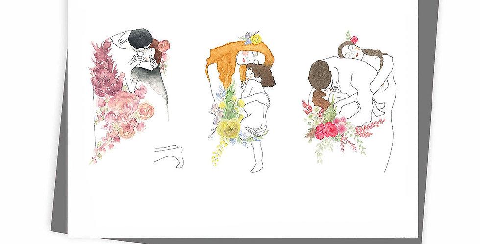 HOBEIKA ART - Carte Trilogie (Klimt)