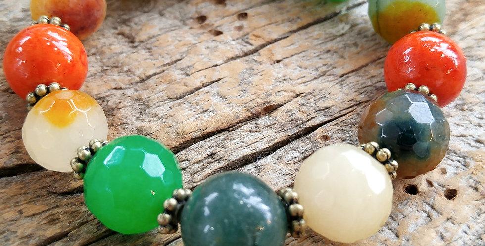 JOÂ - Bracelet perles mixtes et jade