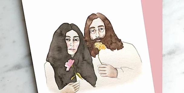HOBEIKA ART - Carte John et Yoko