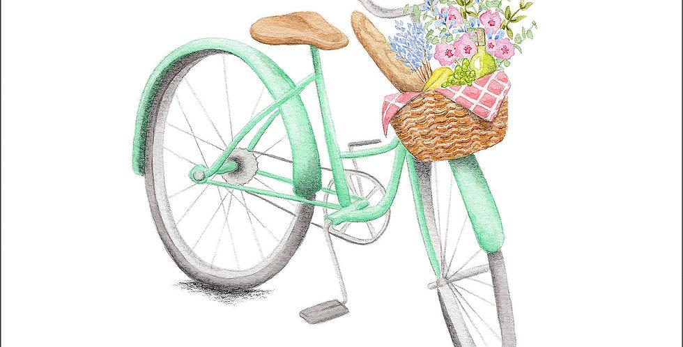 HOBEIKA ART - Affiche Bicyclette