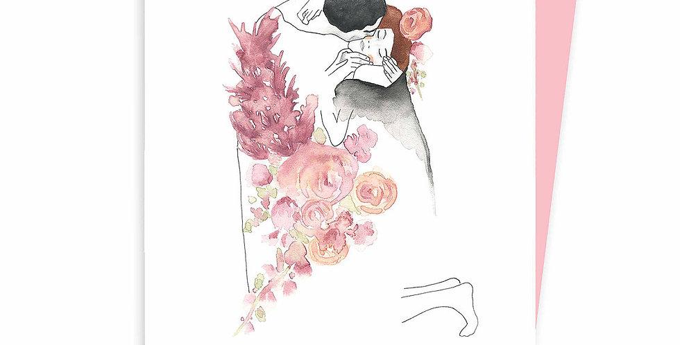HOBEIKA ART - Carte Baiser (Klimt)