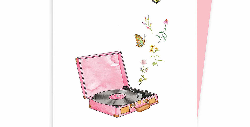 HOBEIKA ART - Carte Tourne-disque