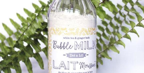 DOT & LIL - Lait de bain moussant Thé blanc & Gingembre