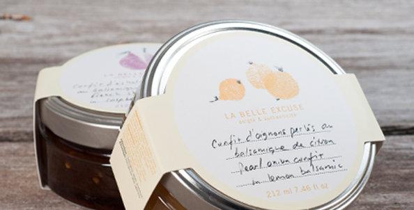 LA BELLE EXCUSE - Confit d'oignons perlés au balsamique de citron 212ml