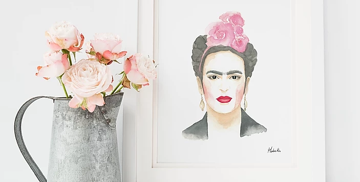 HOBEIKA ART - Affiche Frida