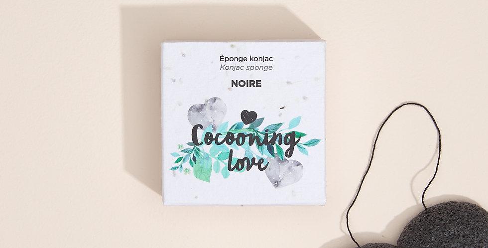 COCOONING LOVE - Éponge Konjac Noire