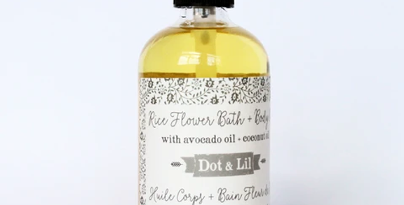 DOT & LIL - Huile pour le corps Fleur de riz