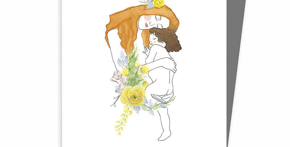 HOBEIKA ART - Carte Maternité (Klimt)
